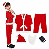 Plush Child Santa Claus Suit Christmas Costume Cosplay Outfit for Kids Boys