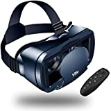 【NEWEST】3D VR Headset With Remote Controller,VR Glasses,VR Goggles -Compatible for iph X 7/7+/6s/6 +/6/5, Samsung Galaxy, Huawei, Google, Moto & All Android Smartphone 5,0-7,0inches & Adjustable Eye Care System(Black)