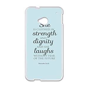 she strength dignity laughs Phone Case for HTC One M7