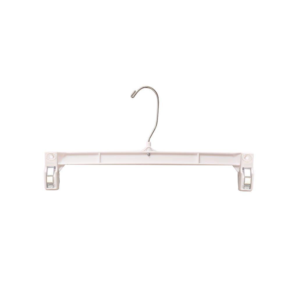 NAHANCO H311W Pinch Clip with Swivel Hook Skirt/Slack Hanger, 11 1/2'', White (Pack of 100)