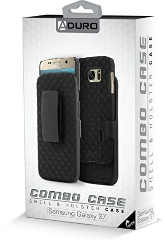 Galaxy S7 Case, Aduro Shell & Holster COMBO Case Super Slim Shell Case w/Built-In Kickstand + Swivel Belt Clip Holster for Samsung Galaxy S7 by Aduro (Image #5)