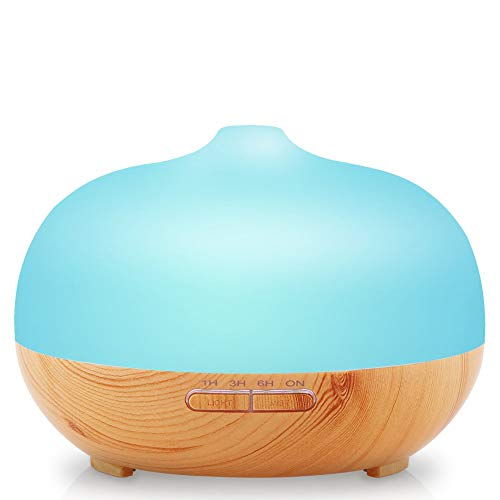 Price comparison product image 300ml Aromatherapy Essential Oil Diffuser Ultrasonic Cool Mist Aroma Humidifier with 7 Colors LED Light and Waterless Auto Shut-off Function