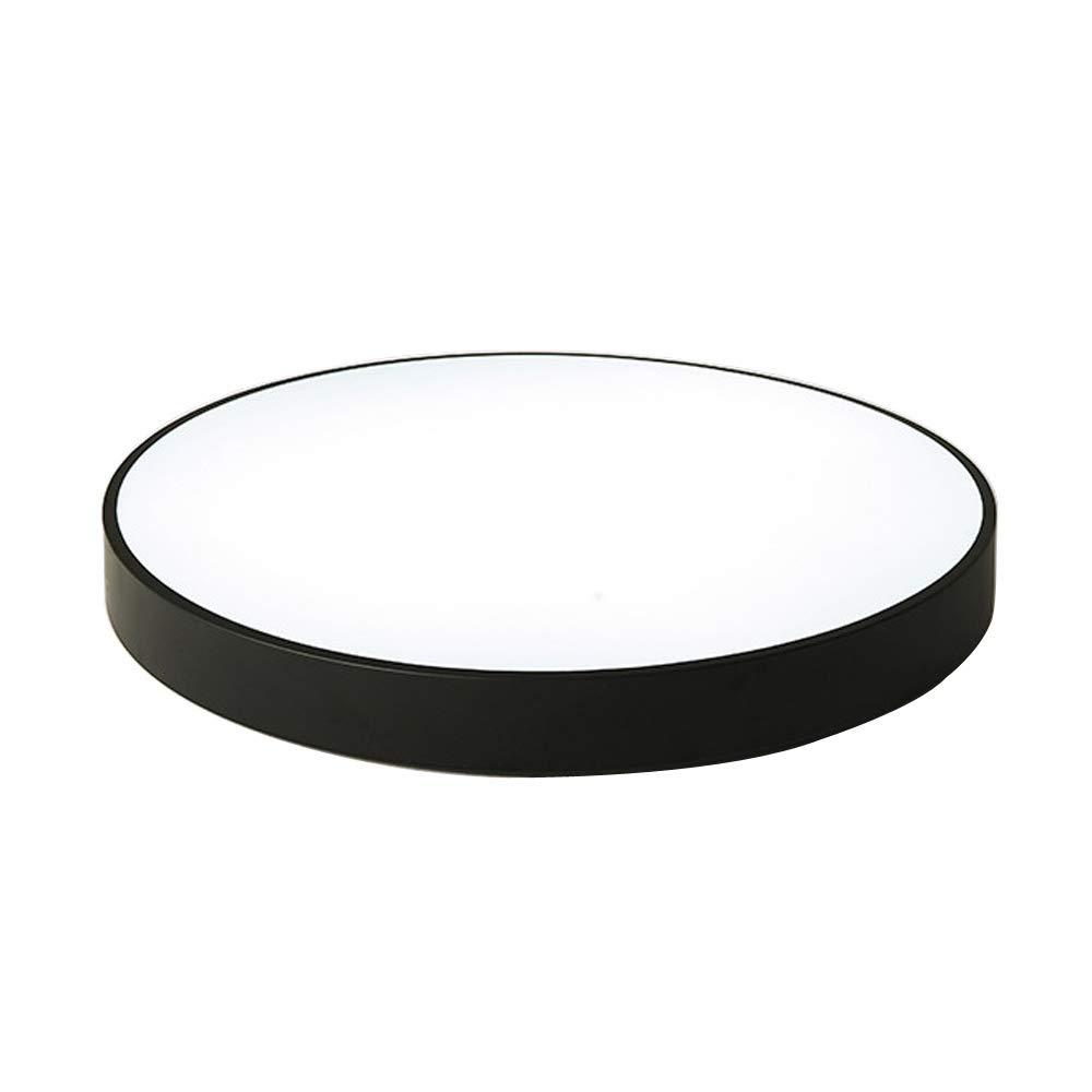 Deckenlampe LED Dimmbar mit Drei Farben Deckenleuchte Rund Schwarz Decken Lampen Einfach Ultra dünne Eisen Wandlampe Wohnzimmer Schlafzimmer Küche Badzimmer Esszimmer Deckenstrahler