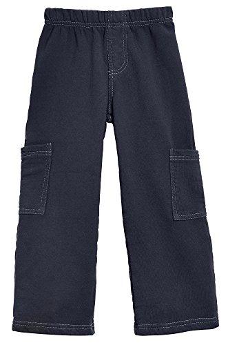 City Threads Big Boys Fleece Cargo Pocket Pants for School Playground and Outdoor Activities, Dark Navy, 10