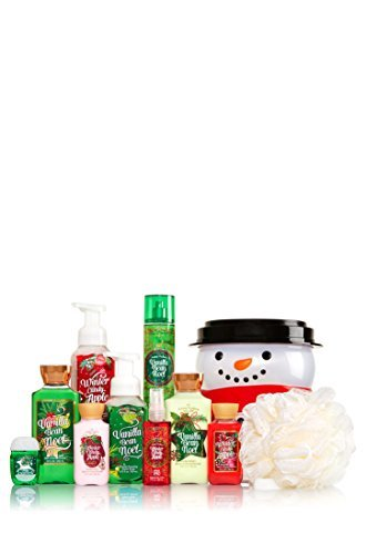 Bath & Body Works The Perfect Christmas Collection HOLIDAY TRADITIONS Snowman Bucket Set (RETAIL $88.25) (Bucket Bath Set)