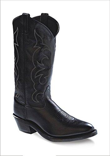 Old West Men's Leather Cowboy Work Boots - Black12 D(M) US