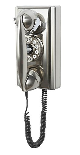 - Crosley CR55-BC Wall Phone with Push Button Technology, Chrome