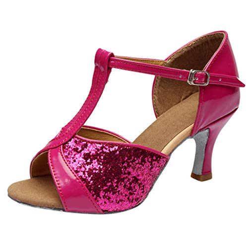 YKARITIANNA Women's Color Fashion Rumba Waltz Prom Ballroom Latin Salsa Dance Shoes Sandals 2019 Summer Hot Pink