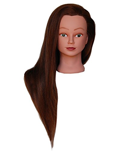 (SUPER LONG) HairZtar 100% Human Hair 26 - 28'' Mannequin Head Hairdresser Training Head Manikin Cosmetology Doll Head (LUCY+CLAMP) by HairZtar (Image #2)