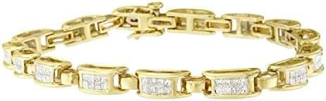 14KT Yellow Gold Princess-Cut Diamond Links of Love Bracelet (2.00 cttw, H-I Color, SI2-I1 Clarity)