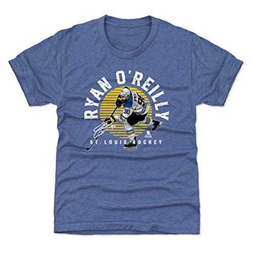 500 LEVEL Ryan O'Reilly St. Louis Blues Youth Shirt (Kids Medium (8Y), Tri Royal) - Ryan O'Reilly Emblem Y WHT