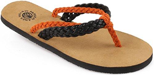 Fashion Flip 1154 Black 1154 Sandals Flop Simple Paperplanes Shoes Orange Unisex Twisted qXEwxSBFB