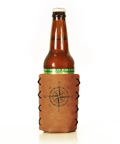 Compass Branded Leather Bottle Sleeve product image