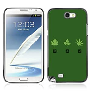 Designer Depo Hard Protection Case for Samsung Galaxy Note 2 N7100 / Marijuana Leaf