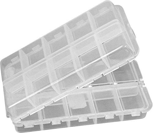 CSC Universal-Box klappbare und mit einzeln verschließbaren Fächern. Zu nutzen als Perlenbox, Sortierkasten, Aufbewahrungsbox, Sortierkiste, Sortimentskasten, Sortierbox, Pillendose. Perfekt fürs Hobby und den professionellen Einsatz.