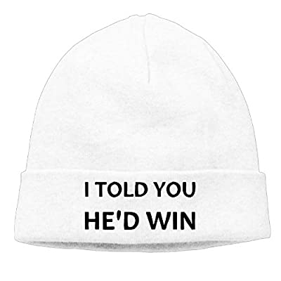 I Told You He'd Win Trump Won Election 2016.PNG Beanie Knit Hat Winter Cap
