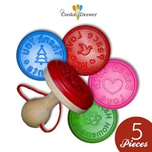 Cooks Drawer 5 Piece Cookie Cutter Stamp Set