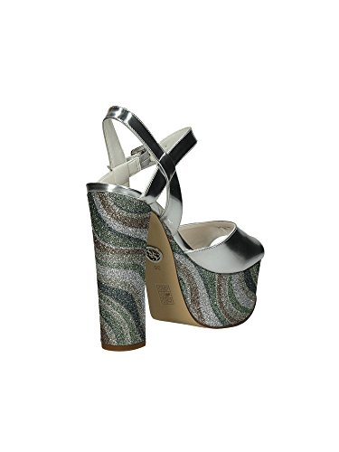 Guess - Zapatos de vestir de Piel para mujer Plateado Glitter Argento Glitter Argento