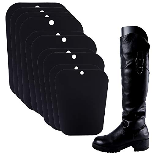 Ruisita 5 Pairs (10 Sheets) Boot Shaper Form Inserts Boots Tall Support for Women and Men (9.5, 12, 14, 16 inches, Black) (Cowboy Boot Inserts)