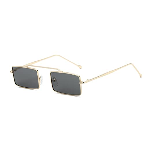 2a68c92f417 Vertily Outdoor Mini Polarized Fashion Square Frame Lens Sunglasses UV  Glasses (Gray)