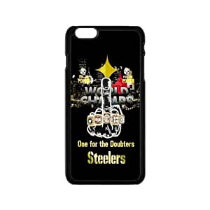 """NFL PITTSBURGH STEELERS Print Black Case With Hard Shell Cover for Apple iPhone 6 4.7"""""""