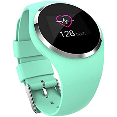 Smart Watch Waterproof Touch Screen Fitness Tracker Sports Bracelet with Heart Rate Sleep Monitor Calorie Counter Bluetooth Pedometer Wristband for Men Women Pink Green Estimated Price £34.21 -