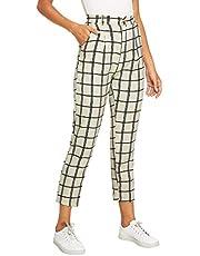 DIDK Women's Tartan Plaid Pants