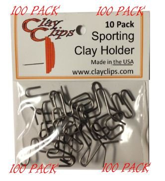 Clay Clips - Clay Target Holder (100 Pack)