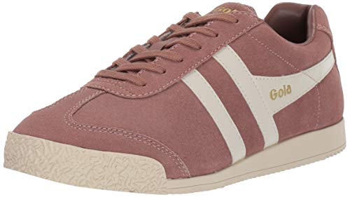 Gola Women's Harrier Suede Trainers, Pink (Seashell/Off White Ok), 7 (40 ()