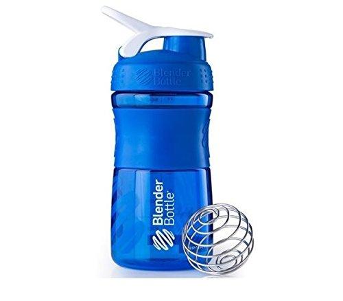 BlenderBottle SportMixer Shaker Cup 20 oz Blender Bottle WHI