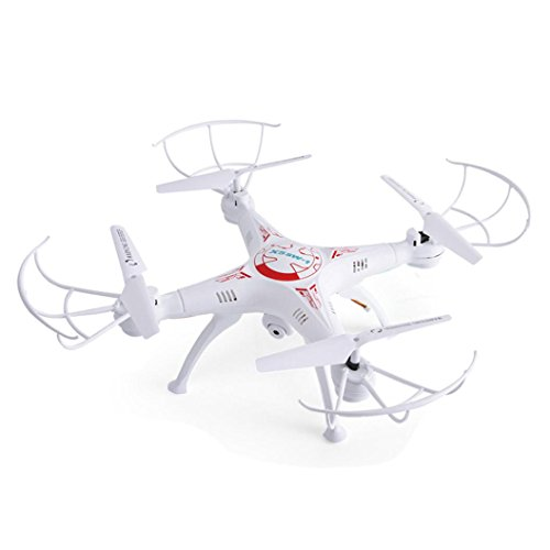 Fineser 2.4G 4CH 6-Axis FPV RC Drone Quadcopter Wifi Camera Real Time 2 Control Modes ,Altitude Hold, One Key Return and Headless Mode Function (White) by Fineser