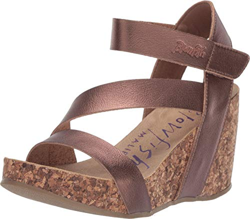Blowfish Malibu Women's Hapuku Wedge Sandal (6.5, Amber Dyecut)