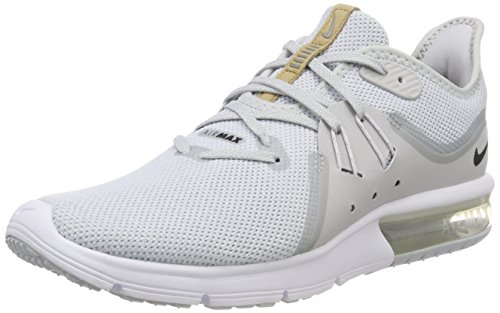 (Nike Men's Air Max Sequent 3 Running Shoes (10.5 D(M) US, Pure Platinum/Black-White))