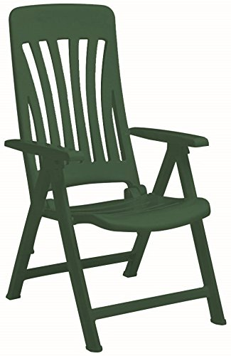 Resol Blanes Folding Multi-Position Garden Armchair - Green Plastic