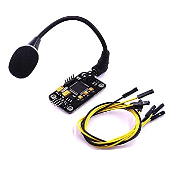 Voice Recognition Module with Micro and 4pin Wire Ard uino Compatible, Easy Control
