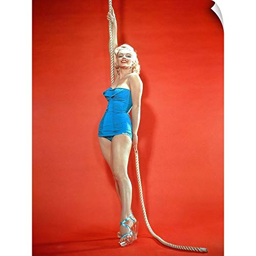 - CANVAS ON DEMAND Marilyn Monroe - Vintage Publicity Photo Wall Peel Art Print, 12