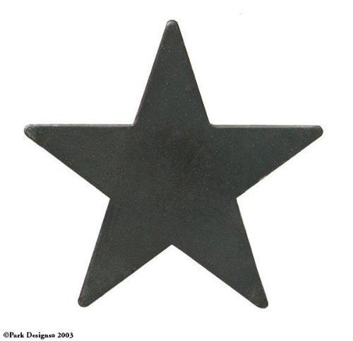 Black Star Iron Napkin Rings, Set of 6