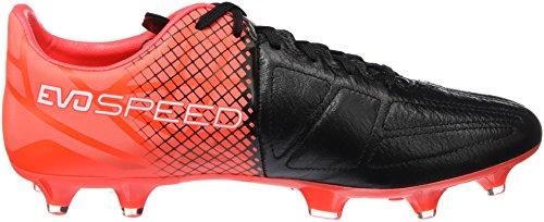 rougefluo red Homme Compétition Lth Noir Puma blk De Evospeed wht Football 3 Fg blanc 5 Chaussures Noir qW4p7aSw