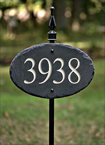 CARVED SLATE House Numbers Address Sign / 36