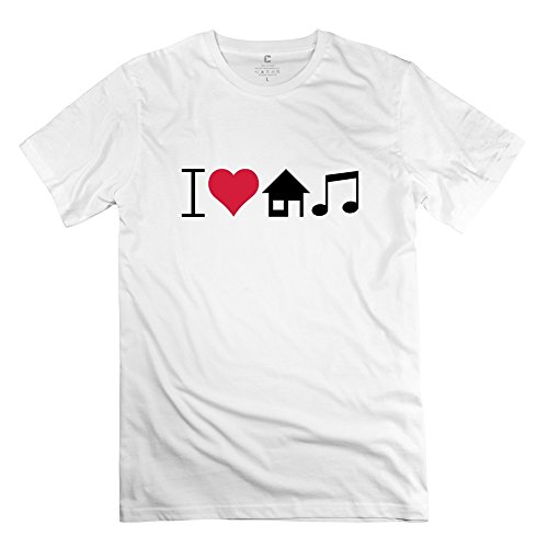 Awesome Short Sleeve Love House Music T Shirts For Guys by DEARFISH Tee