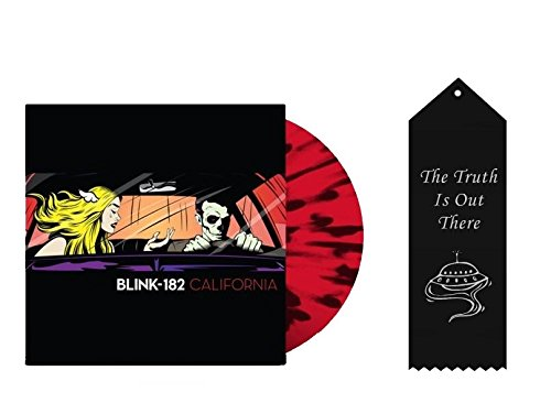 Blink-182 California Exclusive Red and Black Color Variant Vinyl with Ribbon Bundle