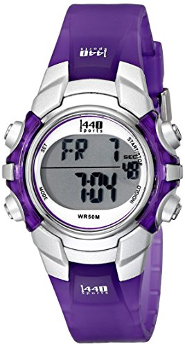 Timex Womens T5K459 1440 Sports Digital Purple Resin Watch