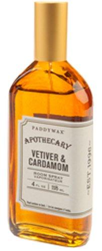 Paddywax Apothecary Collection Deodorizing Room Spray, 3.7 Ounces, Vetiver & Cardamom