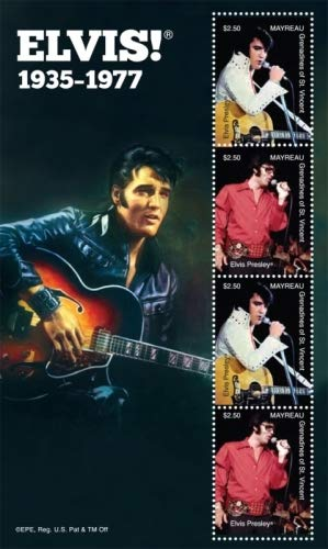 Elvis Presley - 75th Brithday - Rock and Roll Icon - Beautiful Collectors Stamps - Mayreau