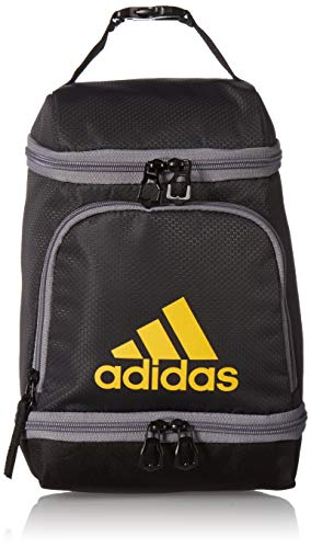 adidas Unisex Excel Insulated Lunch Bag, Carbon/Black/Active Gold/Grey, ONE SIZE (Lunch Bag Big Phil)