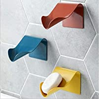 St. Lun Self Adhesive Soap Dish Saver Holder, Countertop Soap Drainer, V-shape Soap Sponge Storage Holder (Color : White…