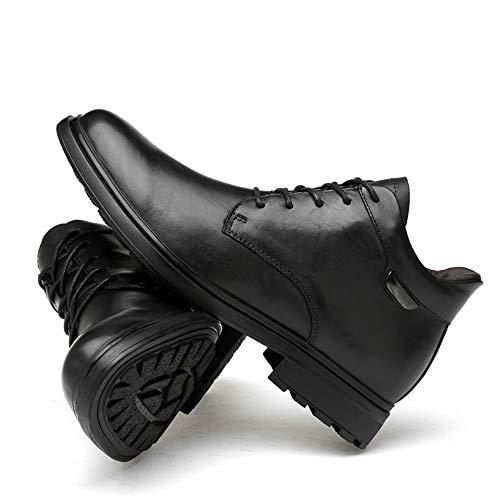 En Punta Trabajo Zapatos Vivir Negro Cálido Alta Conducir El De boots Botines Redonda Cordones Alta Compañía Yajie algodón Hombres Gama Opcional Para Y Hogar Caminar Cuero Con z1fn7q8