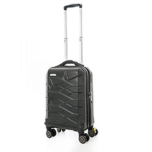 Inflight Smart Gepäck ABS405 Aerolite Aufzug 8 Rad 21 & # x2033; - Schwarzes