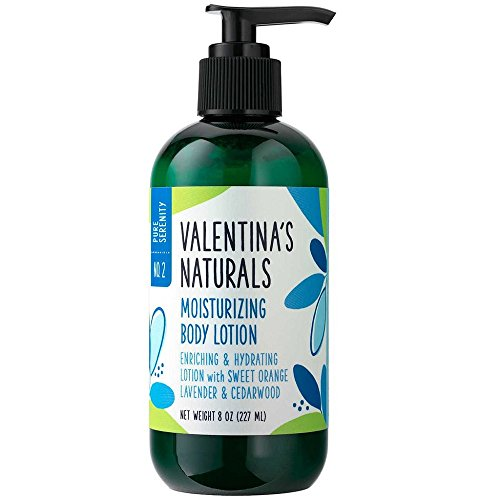 Serenity Natural - Valentina's Naturals Natural Body Lotion, Pure Serenity, 8 Ounce