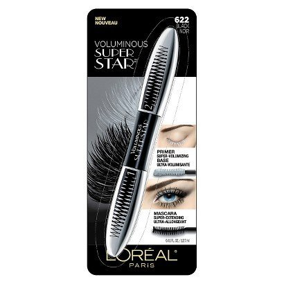 L'Oreal Paris Voluminous Superstar Mascara,622 Black,(Pack of 5) (Maybelline Mascara Voluminous)